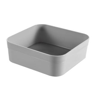 Organizer do szuflady - Infinity kwadratowy - 1 litr - jasny szary