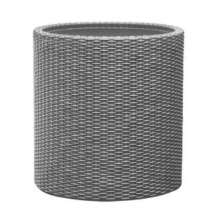 Doniczka okrągła mała - śr. 28 cm - Cylinder Planter - srebrnoszara