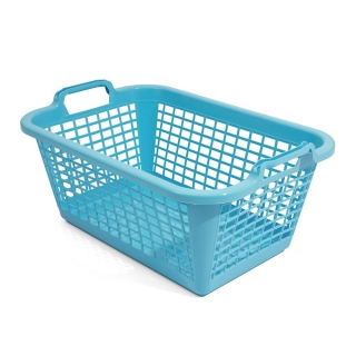 Kosz prostokątny na pranie - 50 x 35 cm - niebieski