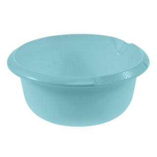 Miska okrągła z wylewką - śr. 20 cm - wodny niebieski