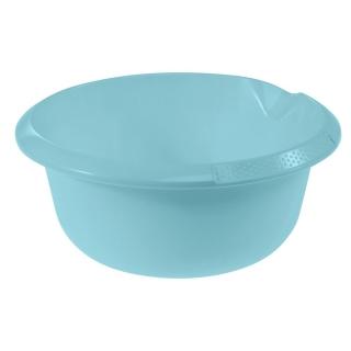 Miska okrągła z wylewką - śr. 24 cm - wodny niebieski