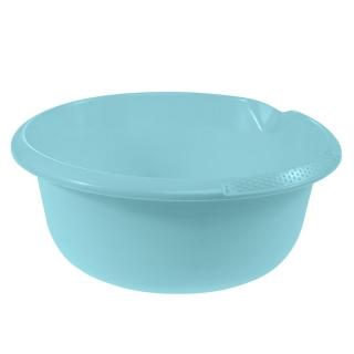 Miska okrągła z wylewką - śr. 32 cm - wodny niebieski