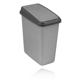 Pojemnik na śmieci 'Slim-Bin' - 10 litrów - jasnoszary