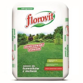 Nawóz do trawników z mchem - Florovit - 25 kg
