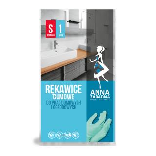 Rękawice gumowe - do prac domowych i ogrodowych - rozmiar S