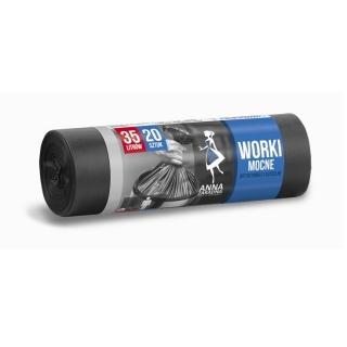Worki na śmieci czarne - MOCNE - 35 litrów - 20 szt.- HDLD