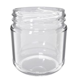 Słoje zakręcane szklane, słoiki niskie - M1 - 210 ml - 10 szt.