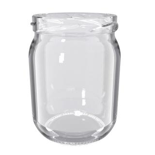 Słoje zakręcane szklane, słoiki - fi 82 - 540 ml - 8 szt.