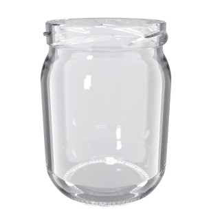 Słoje zakręcane szklane, słoiki - fi 82 - 540 ml + zakrętki białe - 32 szt.
