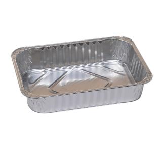 Foremka aluminiowa do pieczenia - podłużna - do ciastek, pierniczków i mazurka - 680 ml - 5 szt.
