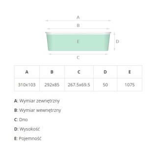 Foremka aluminiowa do pieczenia - podłużna - do makowca, strucla, chałwy i babki piaskowej - 1,075 l - 4 szt.