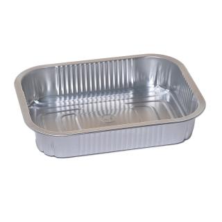 Foremka aluminiowa do pieczenia - podłużna - do skrzydełek, kiełbasek i szaszłyków - 600 ml - 4 szt.