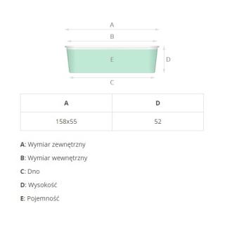 Foremka papierowa do pieczenia Plumpy - prostokątna - 15,8 x 5,5 x 5,2 cm - brązowa z nadrukiem - 6 szt.
