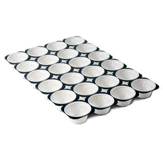 Stelaż do wypieku babeczek i muffinów - na 24 sztuki - biały - 5 szt.