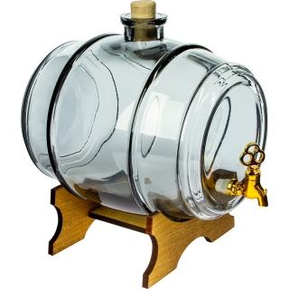 Beczułka na nalewki i inne napoje - Do Pełna - grafitowa - 2 litry