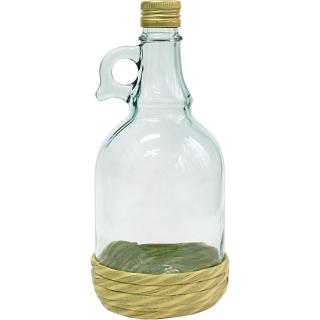 Butelka Gallone w oplocie z zakrętką - 1 litr