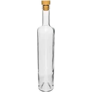 Butelka Marina z korkiem - biała - 500 ml