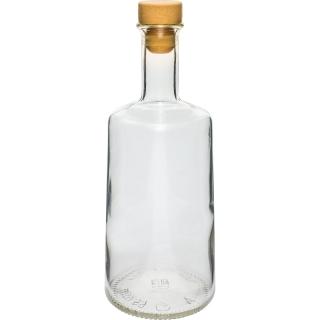 Butelka Rosa z korkiem - biała - 250 ml