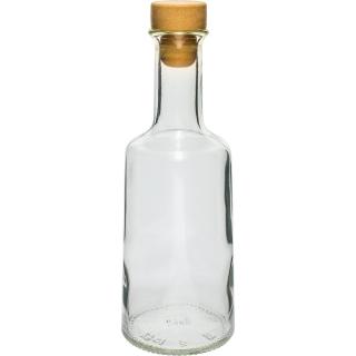 Butelka Rosa z korkiem - biała - 500 ml
