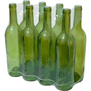 Butelka na wino - oliwkowa - 750 ml - 8 szt.