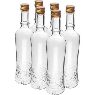 Butelka z zakrętką - Złoty Łan - 500 ml - 6 szt.
