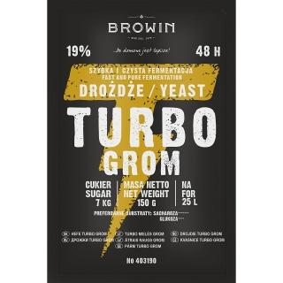 Drożdże gorzelnicze Turbo - Grom 48 h - 120 g