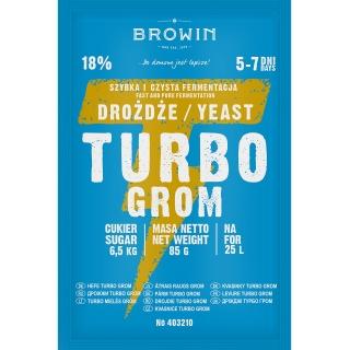 Drożdże gorzelnicze Turbo - Grom 5 - 7 dni  - 85 g