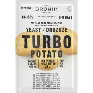 Drożdże gorzelnicze Turbo - Potato - 25 g