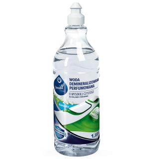ECO Woda demineralizowana o wysokiej czystości - zapach konwalii - idealna do żelazek, parownic - Mill Clean - 1,22 l