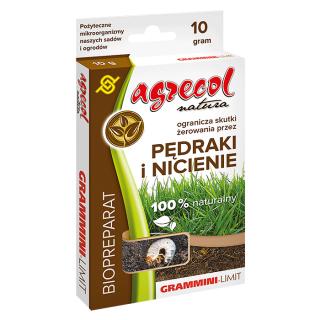 EKO Grammini-Limit - naturalny preparat ograniczający żerowanie pędraków, nicieni i innych owadów - Agrecol - 10 g
