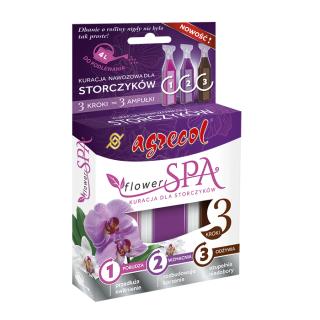 Flower SPA - kuracja dla storczyków - zestaw optymalnie dobranych nawozów - Agrecol - 3 x 30 ml