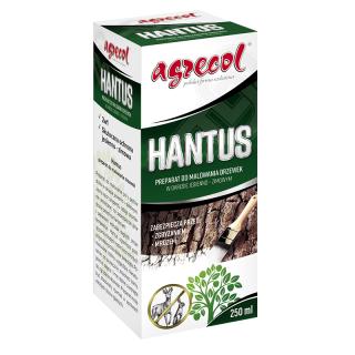 Hantus - preparat do malowania drzewek, zabezpiecza przed mrozem i zgryzaniem przez dzikie zwierzęta - Agrecol - 250 ml