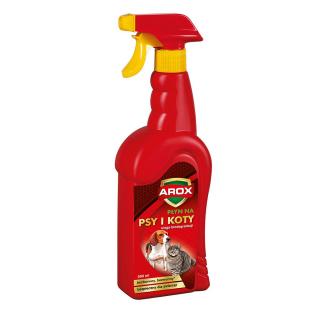 Płyn odstraszający psy i koty - do zastosowania na zewnątrz i wewnątrz pomieszczeń - Arox - 500 ml