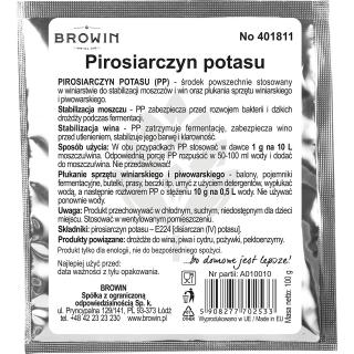 Pirosiarczyn potasu - do stabilizacji moszczów i win - 100 g