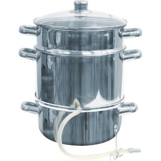 Sokownik nierdzewny - do uzyskania soku z owoców i warzyw - na wszystkie kuchenki, również indukcję - 8 litrów