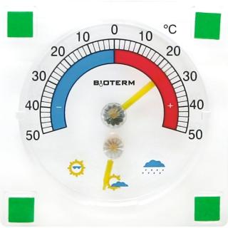Termometr i higrometr przyklejany - 90 x 90 mm