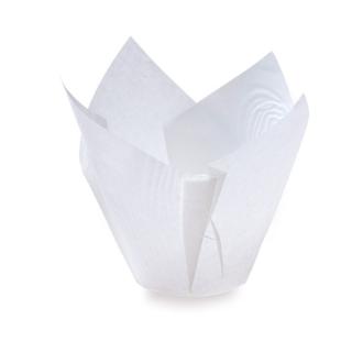 Tulipan, foremka na babeczki - 160 x 50 mm - biały - 200 szt.