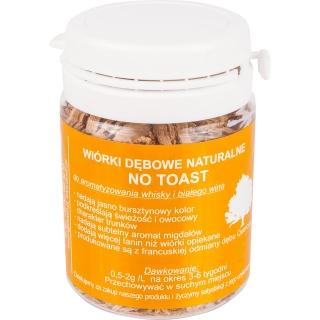 Wiórki dębowe naturalne - nieopiekane - 20 g