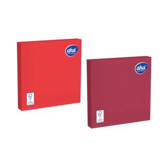 Serwetki papierowe - 33 x 33 cm - AHA - 100 szt. + 20 szt. GRATIS - odcienie czerwieni