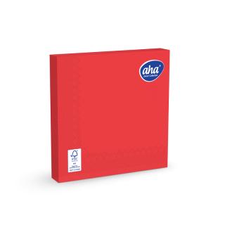 Serwetki papierowe - 33 x 33 cm - AHA - 100 szt. + 20 szt. GRATIS - czerwone