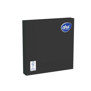 Serwetki papierowe - 33 x 33 cm - AHA - 100 szt. + 20 szt. GRATIS - czarne
