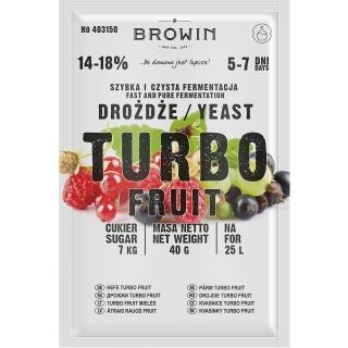 Drożdże gorzelnicze - TurboFruit - 40 g