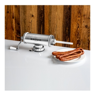 Nadziewarka pozioma do kiełbas, kabanosów, salami i innych wędlin - na 1,5 kg mięsa z silikonowym tłokiem