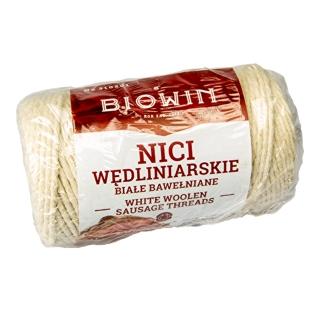 Nici wędliniarskie bawełniane, białe - 100 g - do 240⁰C