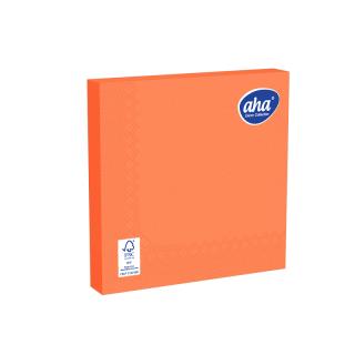 Serwetki papierowe - 33 x 33 cm - AHA - 100 szt. + 20 szt. GRATIS - pomarańczowe