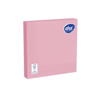 Serwetki papierowe - 33 x 33 cm - AHA - 100 szt. + 20 szt. GRATIS - różowe