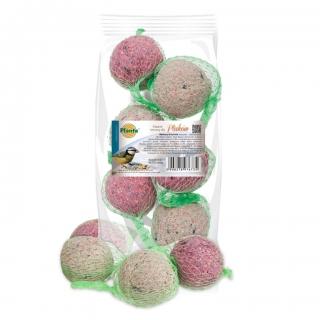 Pokarm zimowy dla ptaków - mieszanka kul w formie warkocza - Planta - 6 sztuk