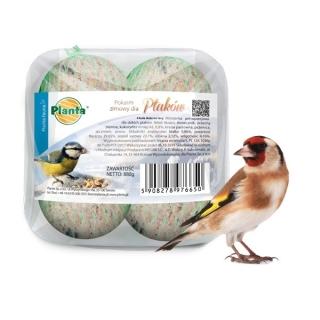 Pokarm zimowy dla ptaków - zestaw dużych kulek dla sikorek - Planta - 4 sztuki