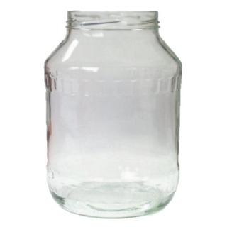 Słój zakręcany szklany, słoik - fi 100 - 2,65 l