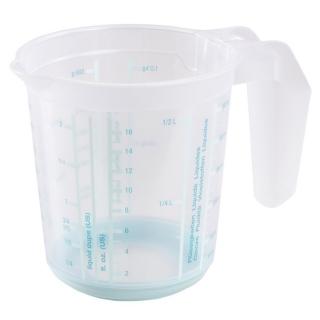 Kubek z miarką i funkcją antypoślizgową - Massimo - 0,5 litra - seledynowy